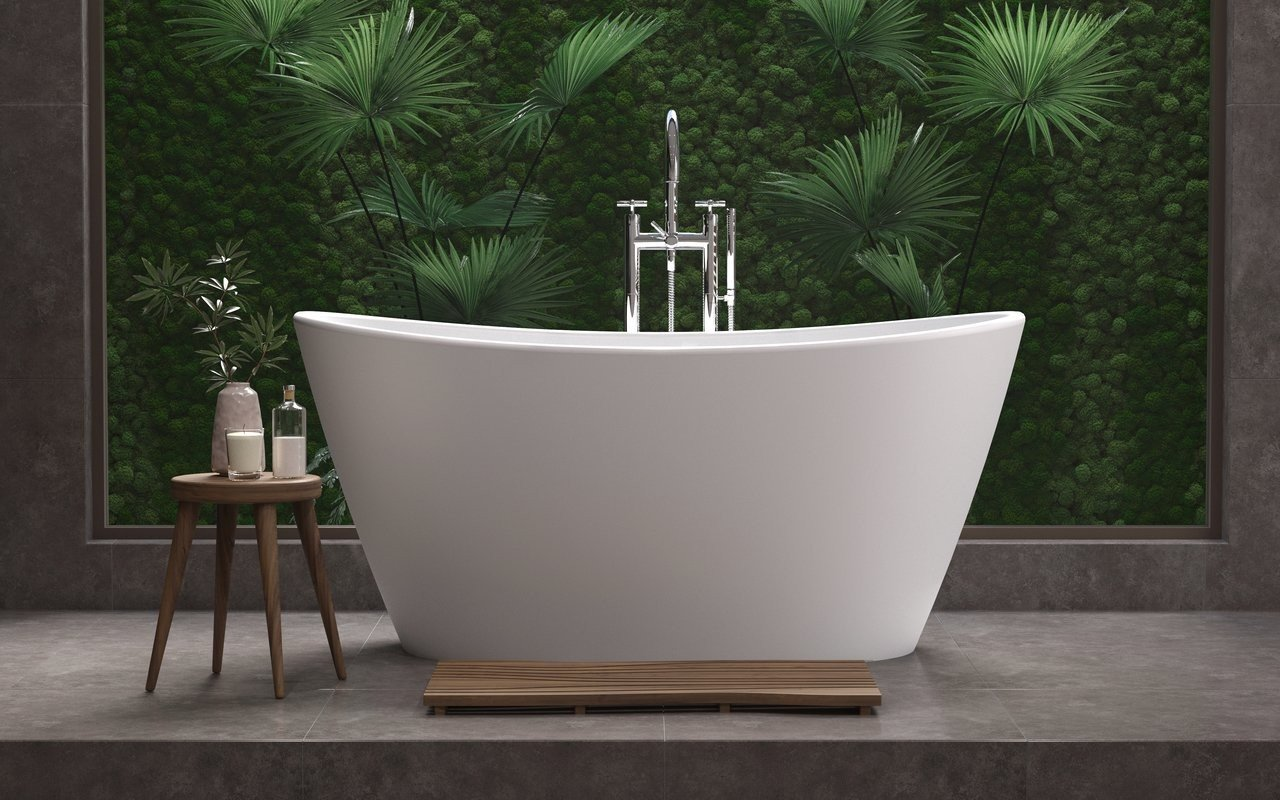 Aquatica Luna Freestanding Solid Surface Bathtub - Fine Matte picture № 0