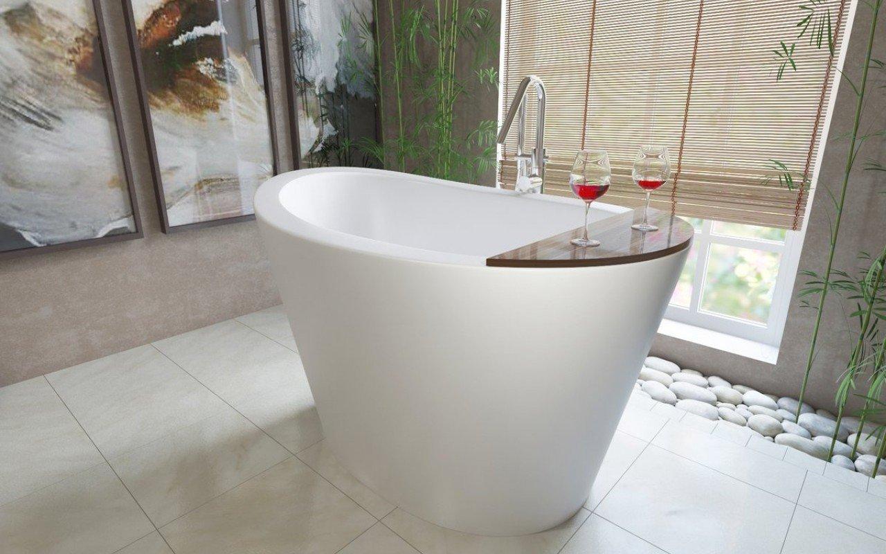 Aquatica True Ofuro Freestanding Stone Japanese Soaking Bathtub picture № 0