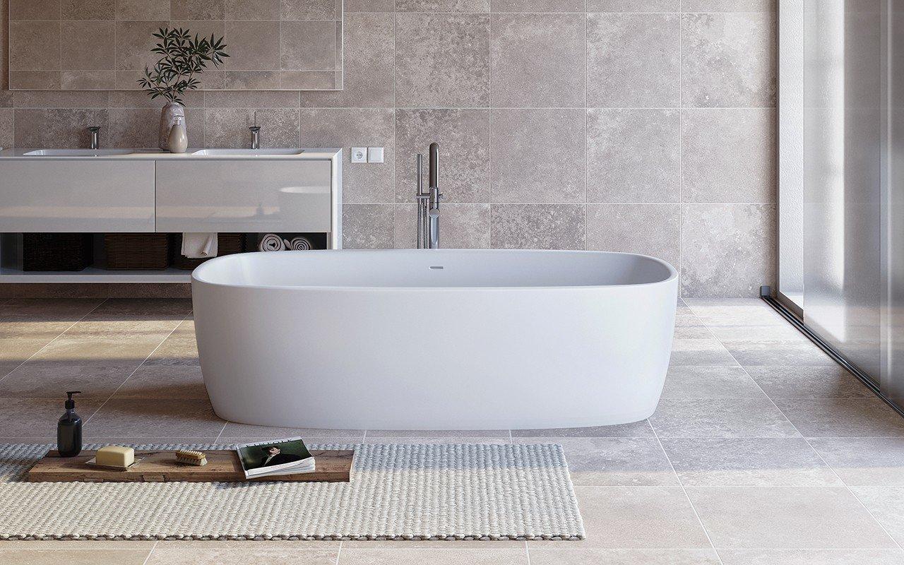 Aquatica Coletta™ White Freestanding Solid Surface Bathtub picture № 0
