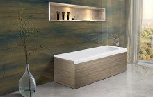 Pure 1l by aquatica back to wall stone bathtub with light decorative wooden side panels 01 (web)