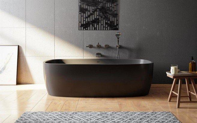 Coletta black freestanding solid surface bathtub 01 (web)