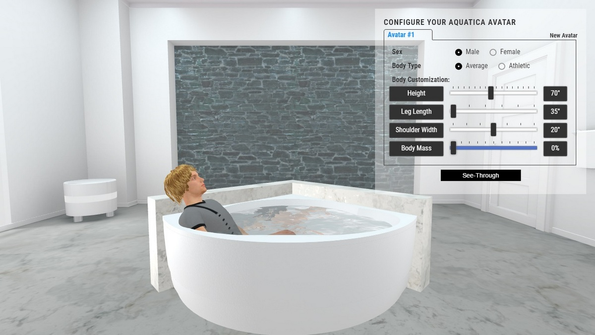 Cleo Bathtub 3D Body Position