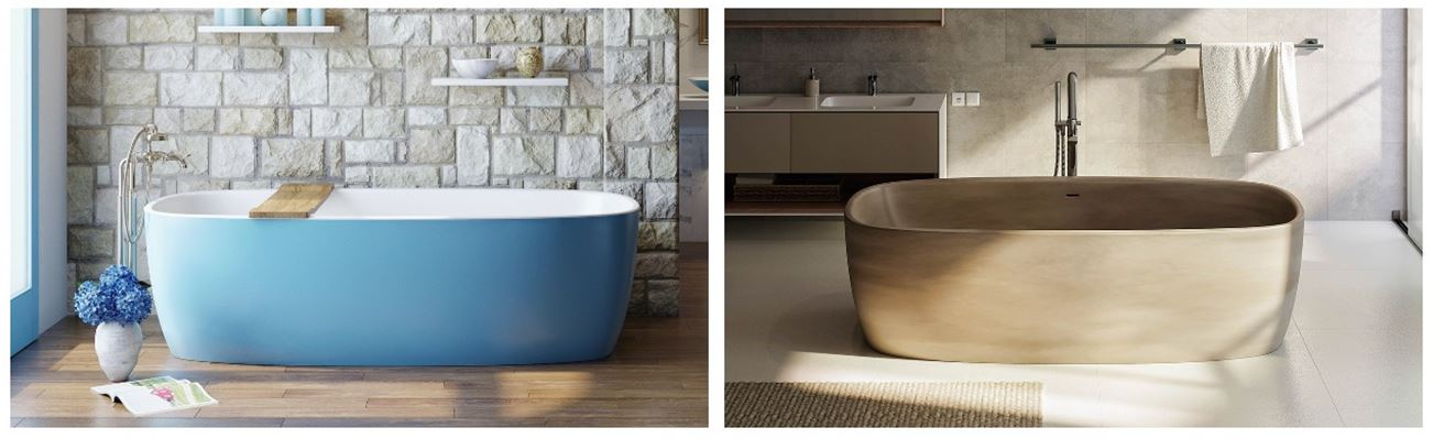 Aquatica coletta freestanding solid surface bathtubs